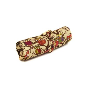 luggage ak hy 008 501C roll up brush bag owl brown trim