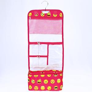 luggage ak ncb25 50 hanging cosmetic case emoji fuchsia