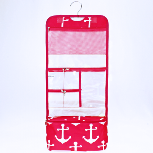 luggage ak ncb25 A P hanging cosmetic case simple anchor fuchsia white