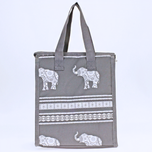 luggage ak ncc18 ELE GW lunch box boho elephant gray white