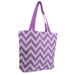 luggage p 18 601 tote chevron light purple