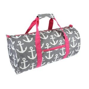luggage sd 706 round duffle bag anchor gray fuchsia
