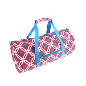 luggage sd 709 p duffle geometric fuchsia turquoise