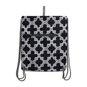 luggage sl 708 CK sling bag backpack quatrefoil gray black