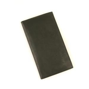 Simple Large Leather Wallet Black