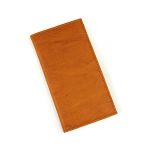 Simple Large Leather Wallet Brown