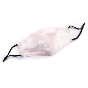 Face Mask 010d Sequin Mask pink ab