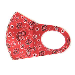Face Mask 139a bandana mask paisley red