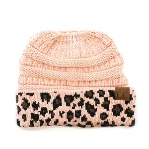 Winter CC Beanie 256/316 Pony Tail Beanie leopard indi pink