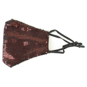 Face Mask 165a Sequin Face Mask red