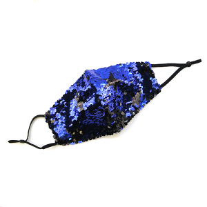 Face Mask 415 Sequin Mask Stars royal blue