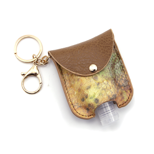 Hand Sanitizer Keychain 004 Yellow Brown