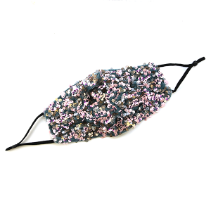 Face Mask 425 Sequin Mask pink green