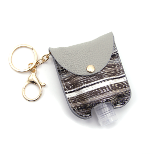 Hand Sanitizer Keychain 022 Stripes Gray