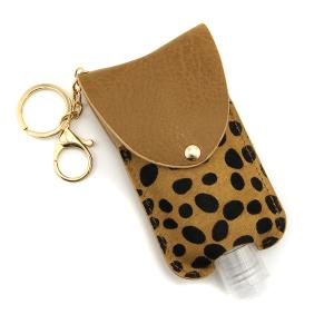 Hand Sanitizer Keychain 036b cow brown large