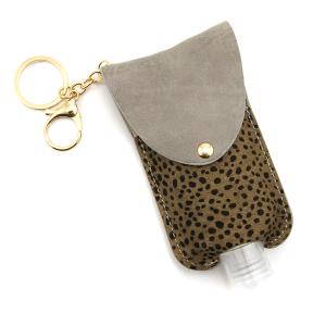 Hand Sanitizer Keychain 073 cheetah gray large