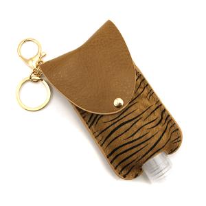 Hand Sanitizer Keychain 072 zebra brown large