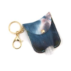 Hand Sanitizer Keychain 063 tie dye blue pink denim