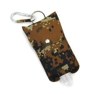 Hand Sanitizer Keychain 069 large digi camo canvas brown