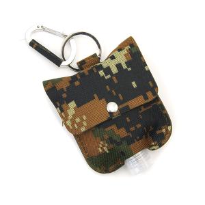 Hand Sanitizer Keychain 057 digi camo canvas brown