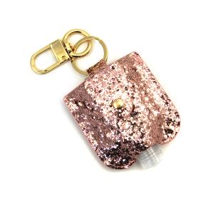 Hand Sanitizer Keychain 044 glitter pink