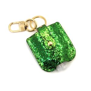 Hand Sanitizer Keychain 043 glitter green