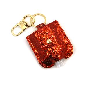Hand Sanitizer Keychain 045 glitter red