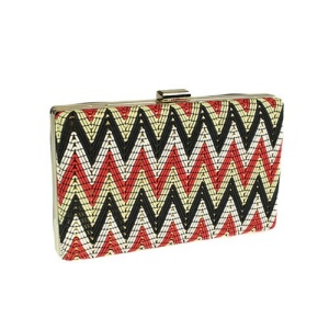 mms cl 89010 chevron clutch MULTI black