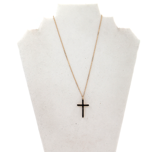 Necklace 2241 61 City cross chain black