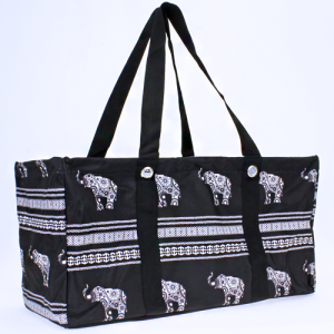 luggage ak NU ELE large trunk organizer boho elephant black white