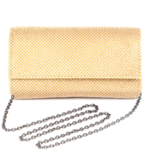 3AM PPC6783 rhinestone clutch gold