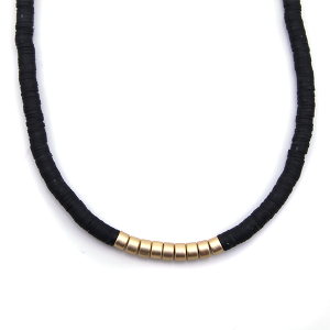 Necklace 941k 78 A Project contemporary minimal necklace gold black