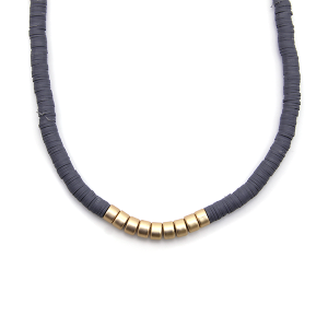 Necklace 955b 78 A Project contemporary minimal necklace gold gray