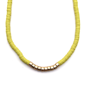 Necklace 950c 78 A Project contemporary minimal necklace gold mustard