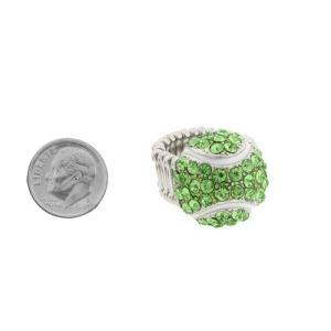 ring 090h 54 tennis ball silver green