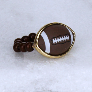 ring 232c 54 football bead brown
