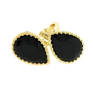 ring 556e 85 double tear drop gold black