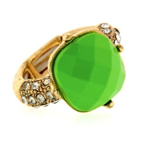 ring 984c 65 square gold green