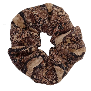 Hair Tie 850 30 large stretch scrunchie hair tie snake brown