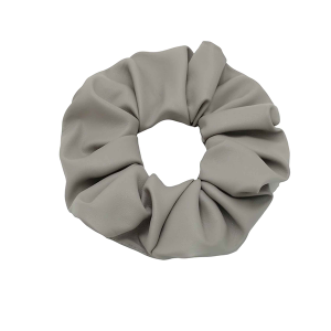 Hair Tie 742 30 stretch scrunchie hair tie solid pu leather gray