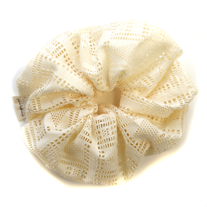 Hair Tie 861 30 KW large srunchie solid ivory