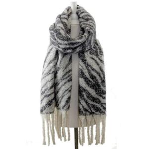 Scarf 318h 34 tiger fringe scarf