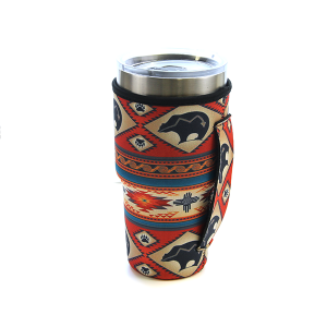 Tumbler Sleeve 007a 12 Tipi tribal