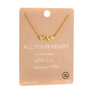 Necklace 1309a Lucky Charm Necklace ALL YOUR HEART gold