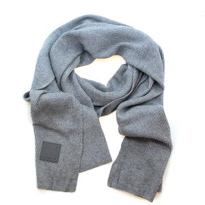 Scarf 564a CC ribbed stretch scarf light melange gray