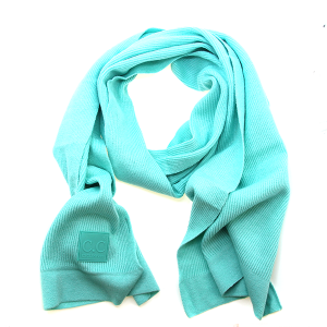 Scarf 573a CC ribbed stretch scarf mint green