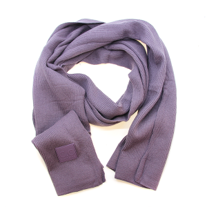 Scarf 581a CC ribbed stretch scarf purple