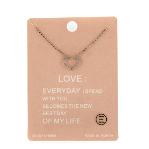 Necklace 1398a Lucky Charm Necklace LOVE silver