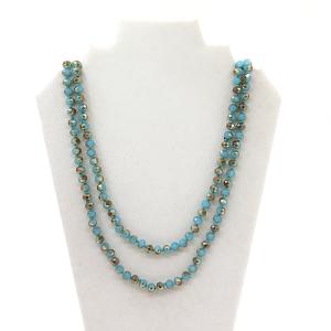 Necklace 1855E 18 blue colored bead