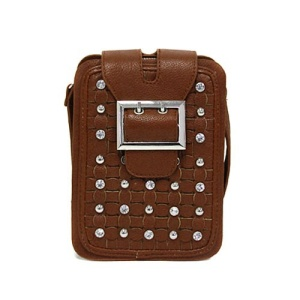 ss a 4905 crystal studs crossbag brown